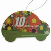Car-shaped Paper Air Freshener with Colorful Print images