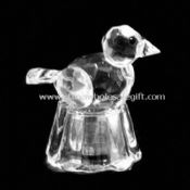 Crystal Bird with Crystal Base and LED Light Inside images