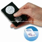 Pocket-sized Card Magnifier Built-in LED Light with Lithium Battery images