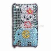 Rhinestone Case for  iPod Touch 4 Made of PVC Material images