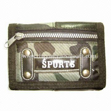 Children  Sports Trifold Ripper Wallet Made of 420D Nylon