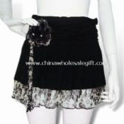 Mini Skirt with Ruffled Chiffon Bottom Hem images