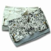 Women Mini Skirt with Sable Grain Printed images