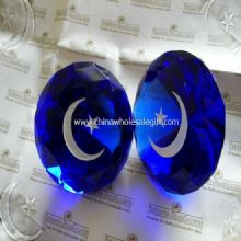 Crystal Diamond Moon And Star Paperweight images
