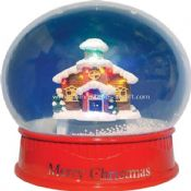 12 inch MIni Snow Globe with LED House images