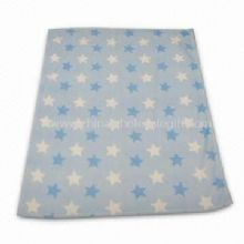 Polyester Coral Fleece Baby Blanket with Panel Printing images