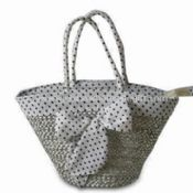 Beach Bag with Lining as Decoration Made of Natural Straw images