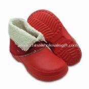 Childrens Winter Clog Boots with Slip-resistant and Non-marking Soles images