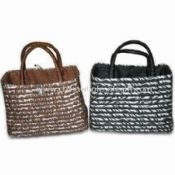Straw Beach Bag with Different Colors and Patterns images