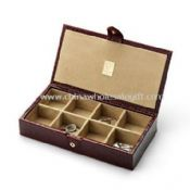 Leather cufflink box images