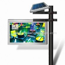 Solar Billboard with Solar Panel Battery Charge Controller Batteries and LED Light Strip images