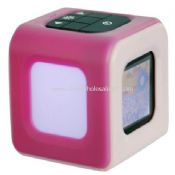 Cube shaped 1.5 inch mini digital photo frame with mood light alarm clock and calendar images