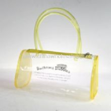 Waterproof beach bag made from clear PVC images