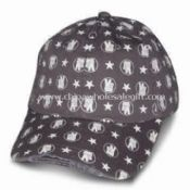 Heavy Brushed Cotton Twill Baseball Cap with Full Printing images
