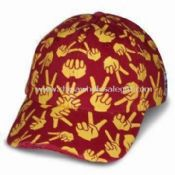 Heavy Brushed Cotton Twill Baseball Cap with Full Printing and Six Panels images