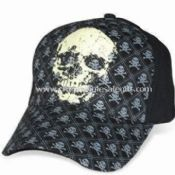 Heavy Brushed Cotton Twill Baseball Cap with Skeleton Printing images