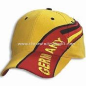 Heavy-brushed Cotton Twill Sports Cap with Printed Design images