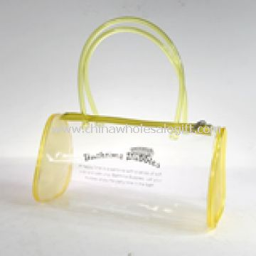 Waterproof beach bag made from clear PVC