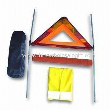 Car Accident Kits with Warning Triangle and Safety Vest