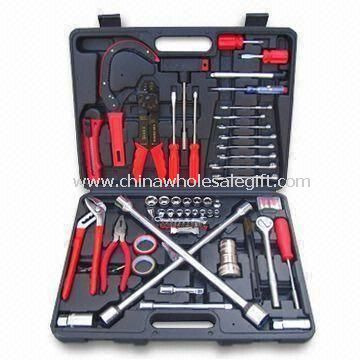 Auto Repair Tool Set, comprende coltello, chiave inglese, giravite, Tire Gauge e nastro in PVC
