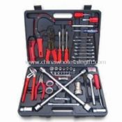 Car Repair Tool Set, Includes Knife, Wrench, Screwdrivers, Tire Gauge, and PVC Tape images