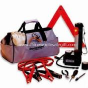 Car Tool Kit Includes Fiber Bag, Cable Booster, Flashlight, Cotton Gloves, Safety Hammer and Wrench images