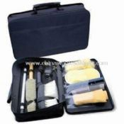 Car Wash Tool Kit Includes Window Eraser, Sponge, Woolen Mitt, Drying Cloth and Rinse Brush images