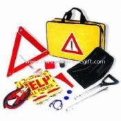 Roadside Tool Set with Collapsible Shovel, Electric Tape, First-aid Kit and Help Sign images