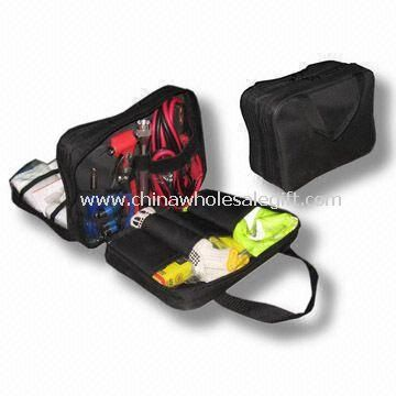 Multi-functional Auto Safety Kit with Double Layer, Contains First Aid Accessories/Auto Safety Tools