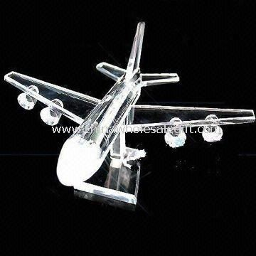 Crystal Airplane Suitable for Home Furnishings and Corporate Gifts