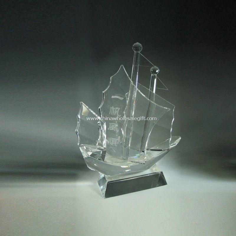 Kristalli lasi veneen ja aluksen malli