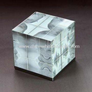 crystal photo frame cube