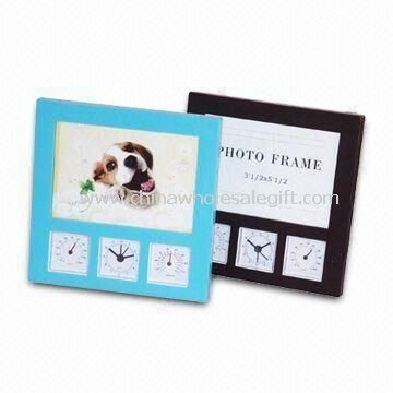 Desk Clock with Weather Station and Photo Frame