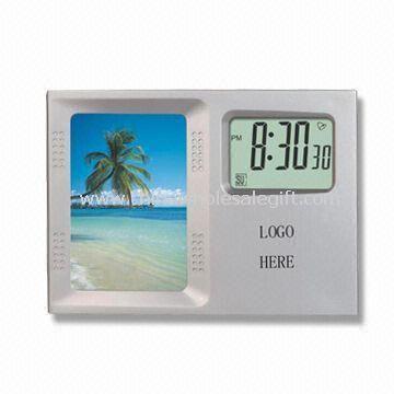 Desktop Calendar with Photo Frame and Digital Clock