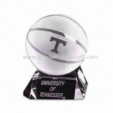 K9 Crystal urheilu pallo muistoesineitä muotoinen ilman kuplia