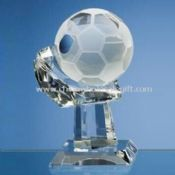 Crystal Football Trophy with High Transparency images