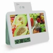 Plastic Digital Clock with Photo Frame images