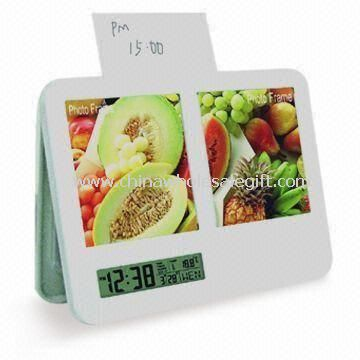 Plastic Digital Clock with Photo Frame
