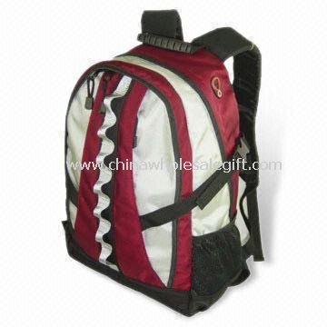 Sports/Camping/Outdoor Backpack with Inner CD Pockets Made of Nylon Jacquard