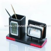 leather pen holder with name card holder images