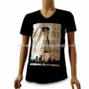 Mens T-shirt  Made of Cotton with Rubber Printing images