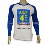 Promotional Mens Long Sleeve T-shirt Made of 100% Cotton and Jersey Material images