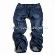 Girls Blue Denim Jeans, Side Pockets with Binding images