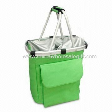 Foldable Picnic Basket Made of 600D Polyester Fabric Aluminum Tube with Tool Pouch
