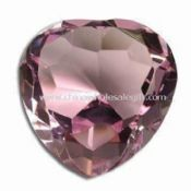Optical Crystal Pink Heart-shaped Diamond Paperweight for Valentine and Xmas Gifts images