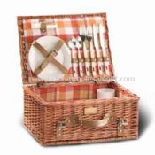 Picnic Basket Set Made of Wicker or Willow images