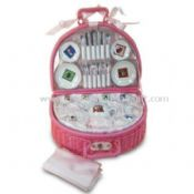 Picnic Basket with 35 Pieces Porcelain images
