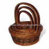 Storage Baskets with Handle Made of Willow images