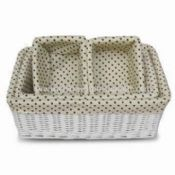 Storage Willow Basket and Hamper Different Shapes are Accepted images