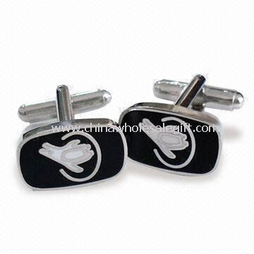 Cufflinks with Silver Finish